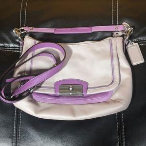Coach purple and lilac crossbody bag